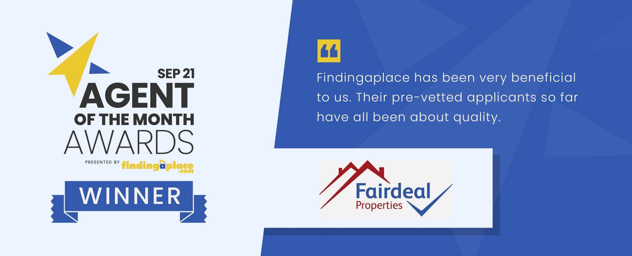 Agent of the Month, September 2021: Fairdeal Properties